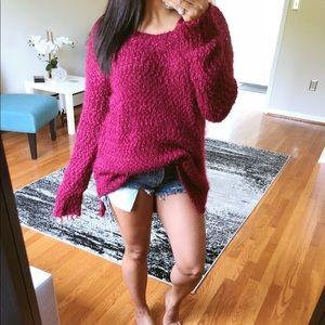 Sweaters - SALE* Berry popcorn sweater